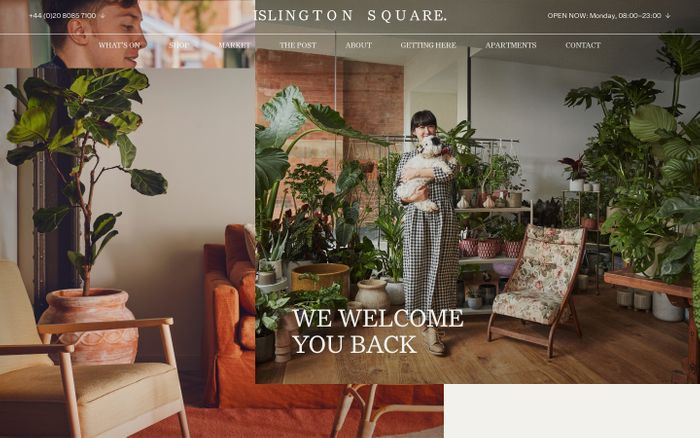 Screenshot of Islington Square website