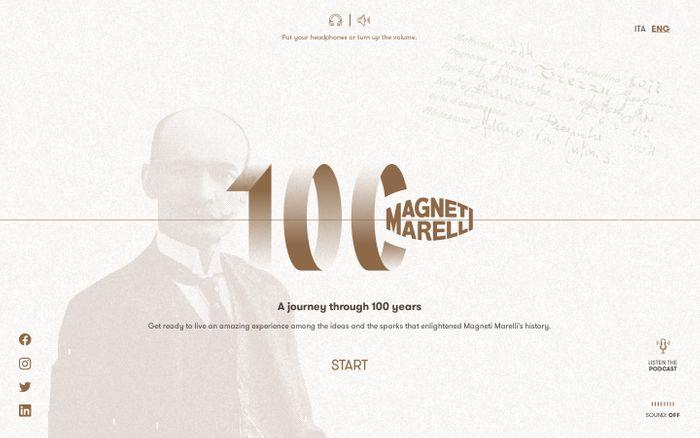 Screenshot of Magneti Marelli 100 years