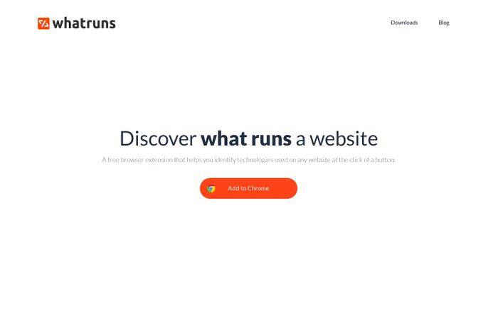 Screenshot of WhatRuns — Discover What Runs a Website