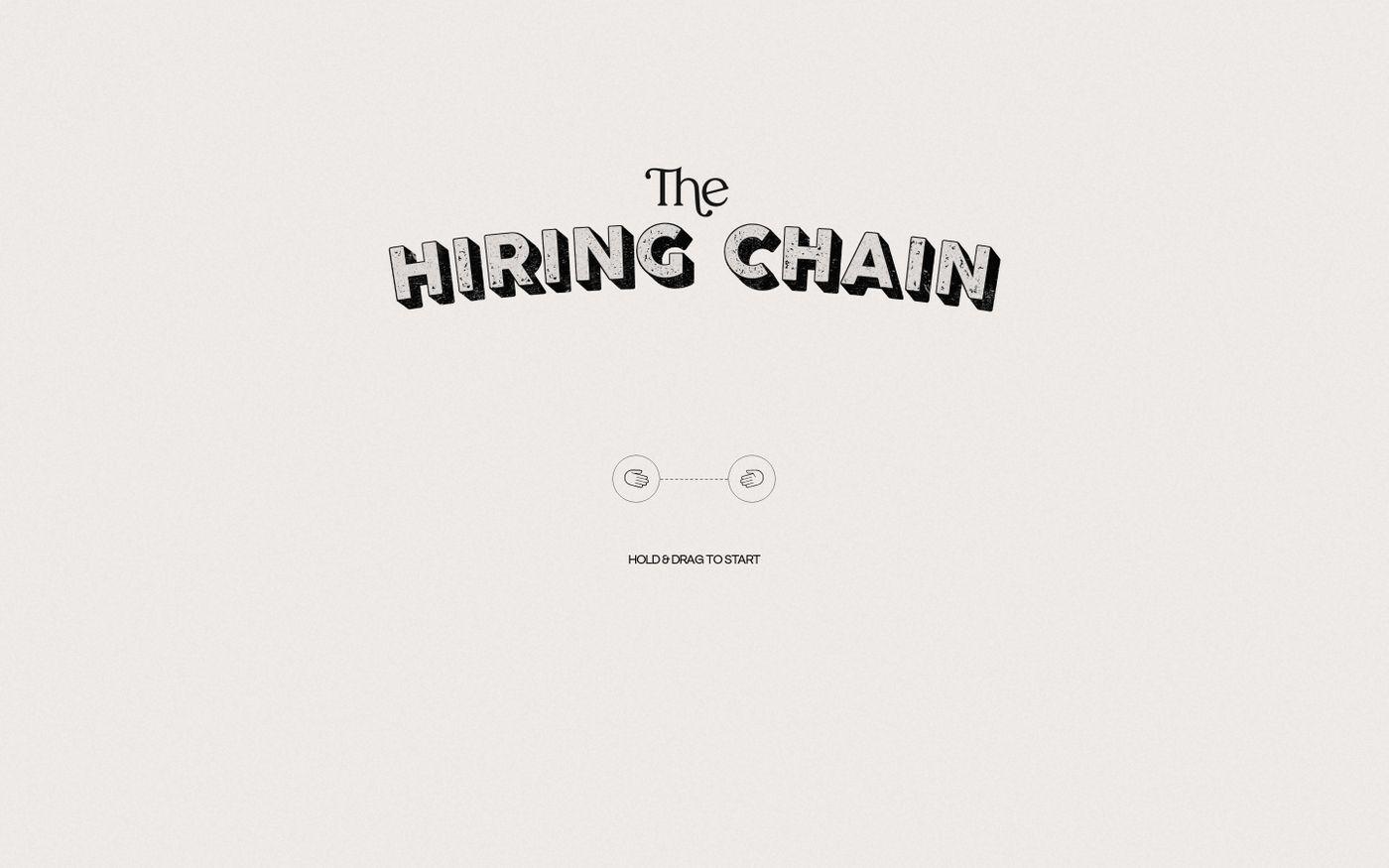 Screenshot of The hiring chain website