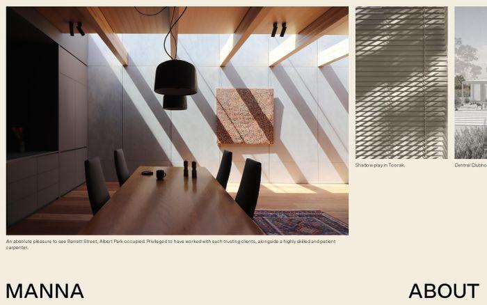 Screenshot of Manna website