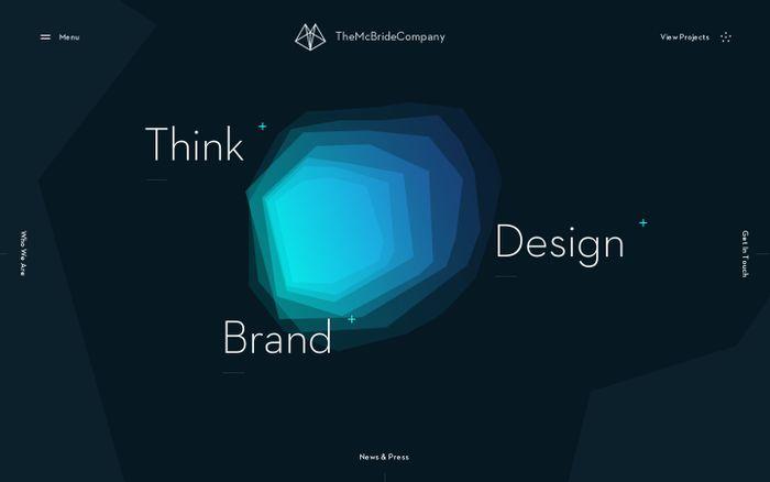 Screenshot of Think, Design, Brand - The McBride Company