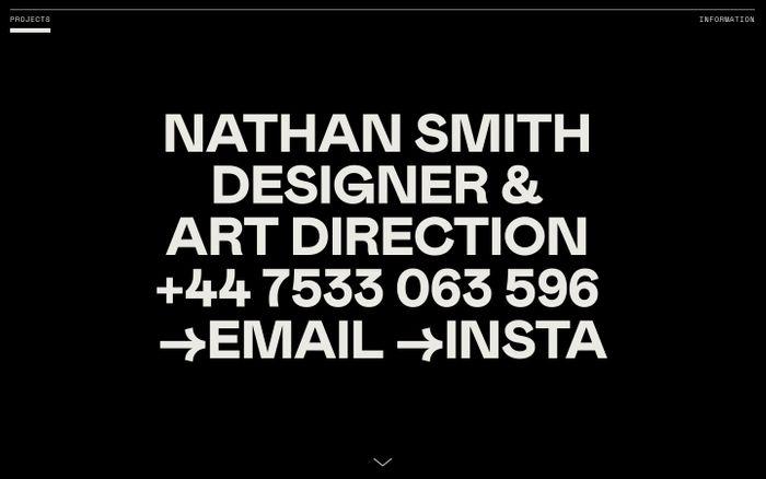 Screenshot of Nathan Smith - Design & Art Direction