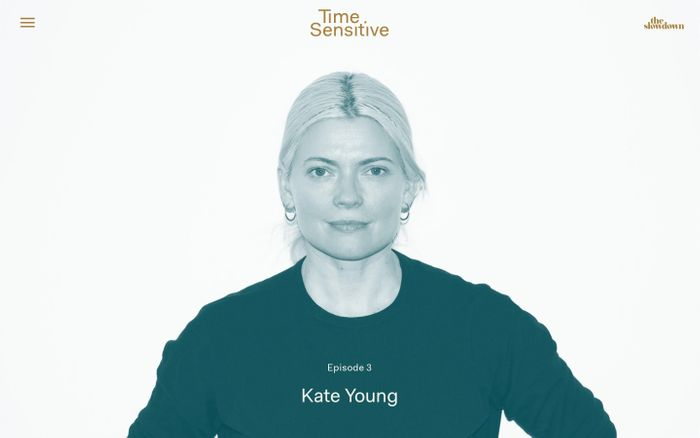 Screenshot of Time Sensitive - Podcast Featuring Leading Minds Who Have a Distinct Perspective on Time