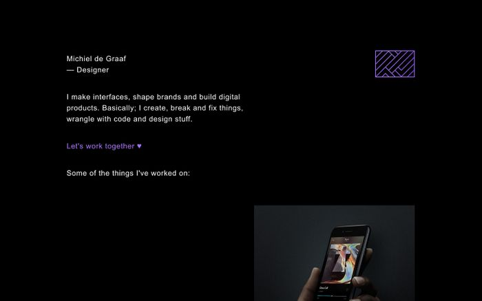 Screenshot of Michiel de Graaf - Designer
