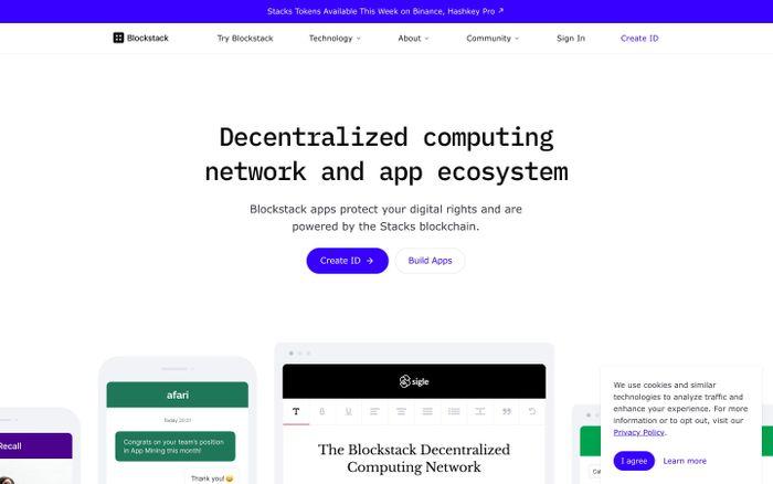 Screenshot of Blockstack