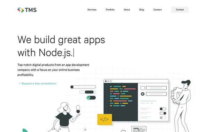 Screenshot of We develop cutting-edge web applications for growing businesses | TMS