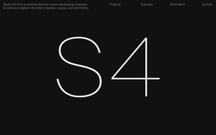 Screenshot of Studio 24/24 - Creative direction & Graphic design