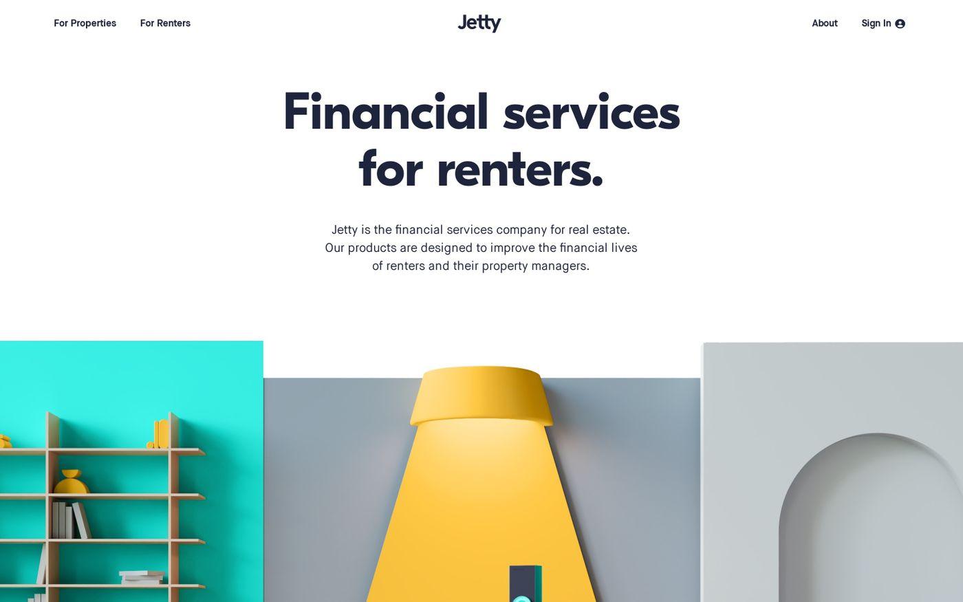 Screenshot of Jetty website