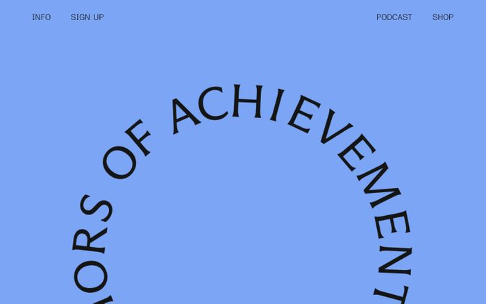 Screenshot of Women Authors of Achievement website