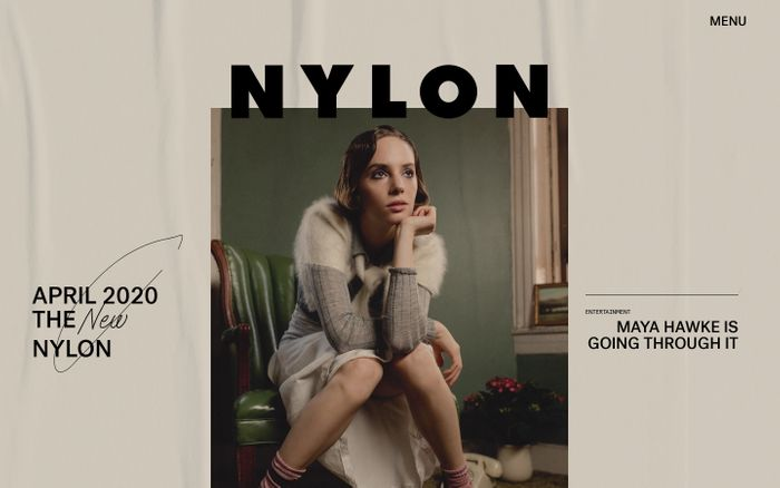 Screenshot of Nylon website