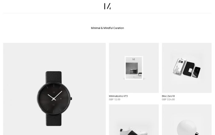 Screenshot of Minimalissimo Shop – Minimal & Mindful Curation