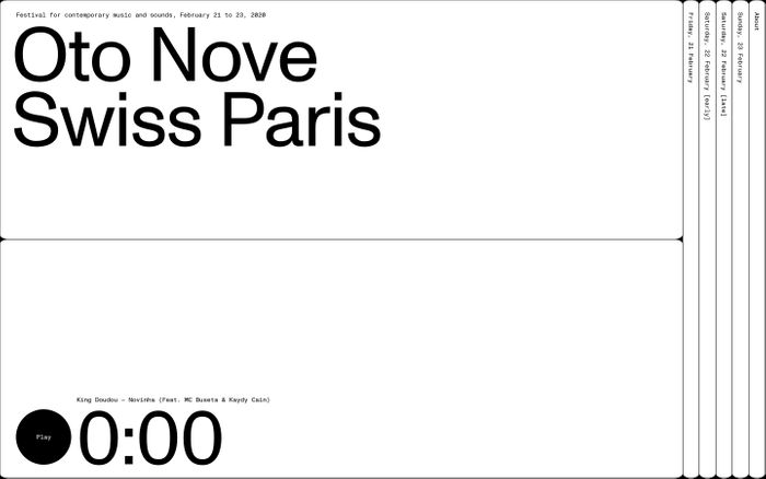 Screenshot of Oto Nove Swiss Paris website