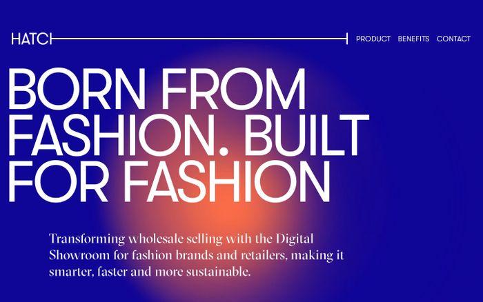 Screenshot of Hatch studio website