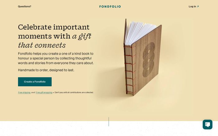 Screenshot of Fondfolio website