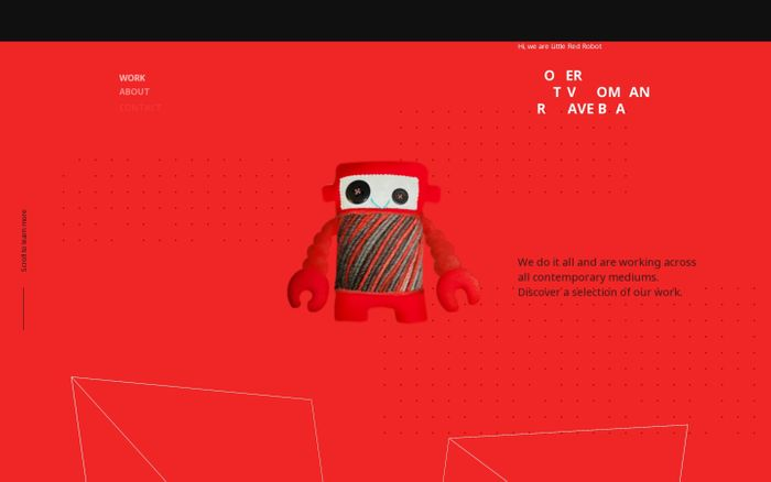 Screenshot of  Little Red Robot website
