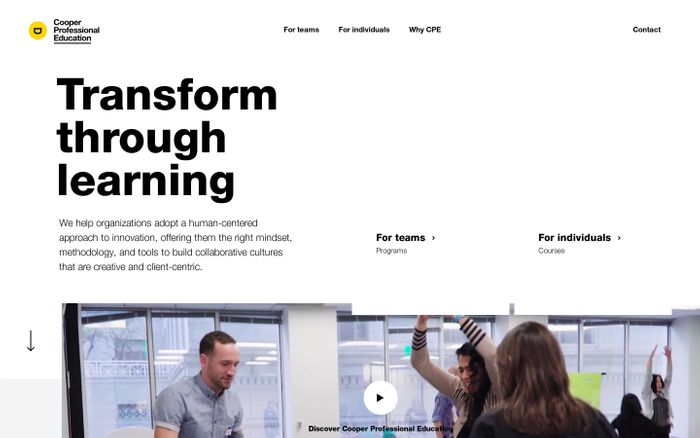 Screenshot of Transformative Learning Experiences for Organizations | CPE
