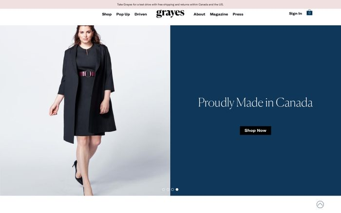 Screenshot of Modern workwear made simple – Grayes