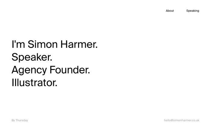 Screenshot of Simon Harmer | Speaker, Agency Founder, Illustrator