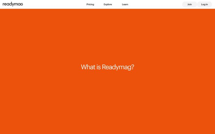 Screenshot of What Is Readymag?
