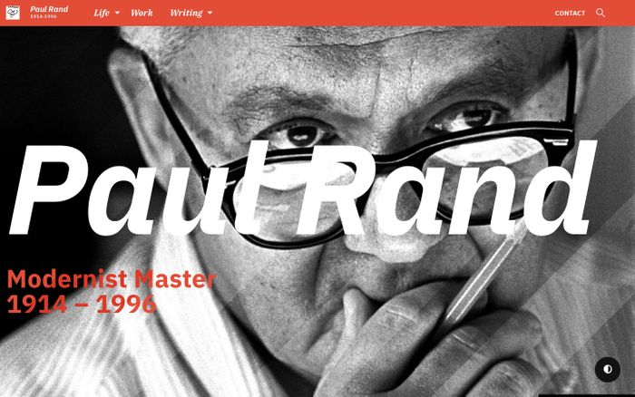 Screenshot of  Paul Rand: Modernist Master 1914-1996