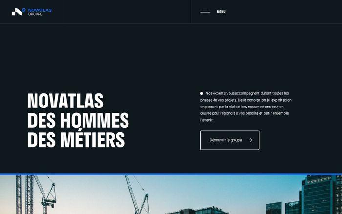 Screenshot of Novatlas website