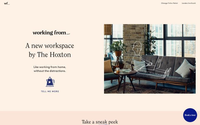 Screenshot of Working From_ is the new Coworking Space by The Hoxton