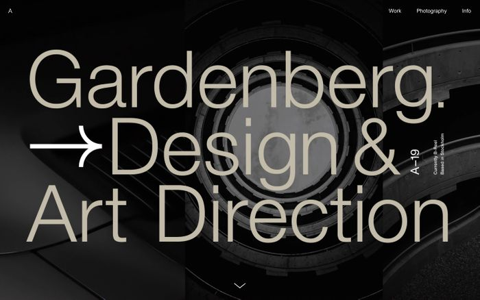 Screenshot of Alexander Gårdenberg website