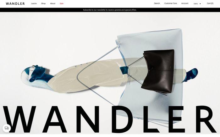 Screenshot of Wandler website