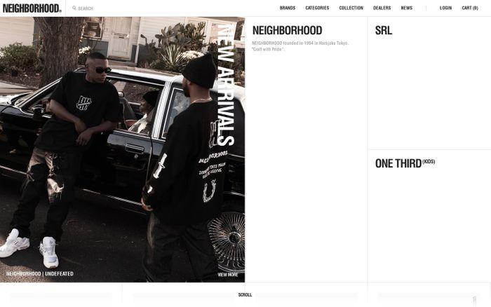 Screenshot of Neighborhood website