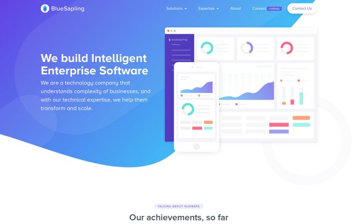 Screenshot of BlueSapling - Intelligence Served | Enterprise Software Developers