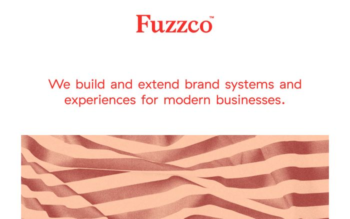 Screenshot of Fuzzco website
