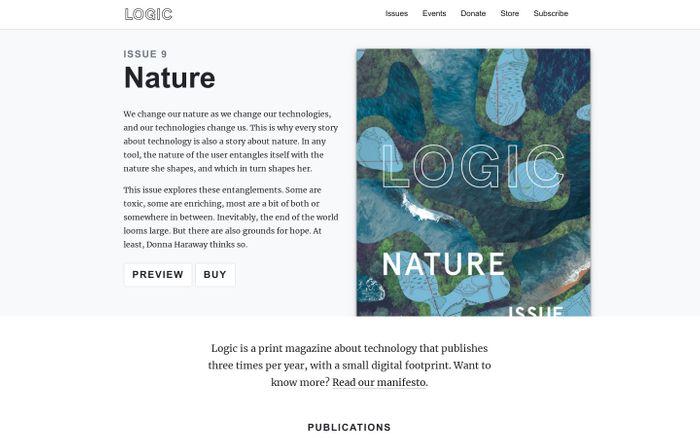 Screenshot of  Logic Magazine