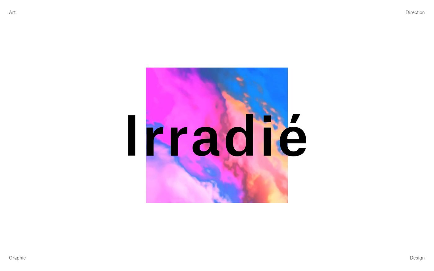 Screenshot of Irradié website