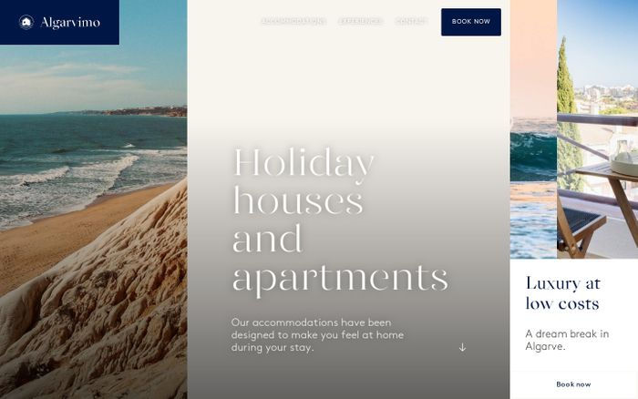 Screenshot of Rental of apartments and houses for holidays in Portimão, Algarve