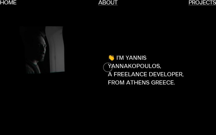 Screenshot of Yannis Yannakopoulos website