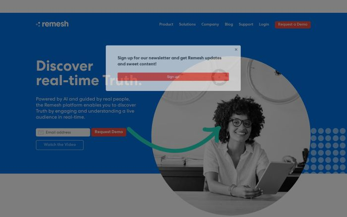 Screenshot of Discover Real-Time Customer and Employee Truth | Remesh