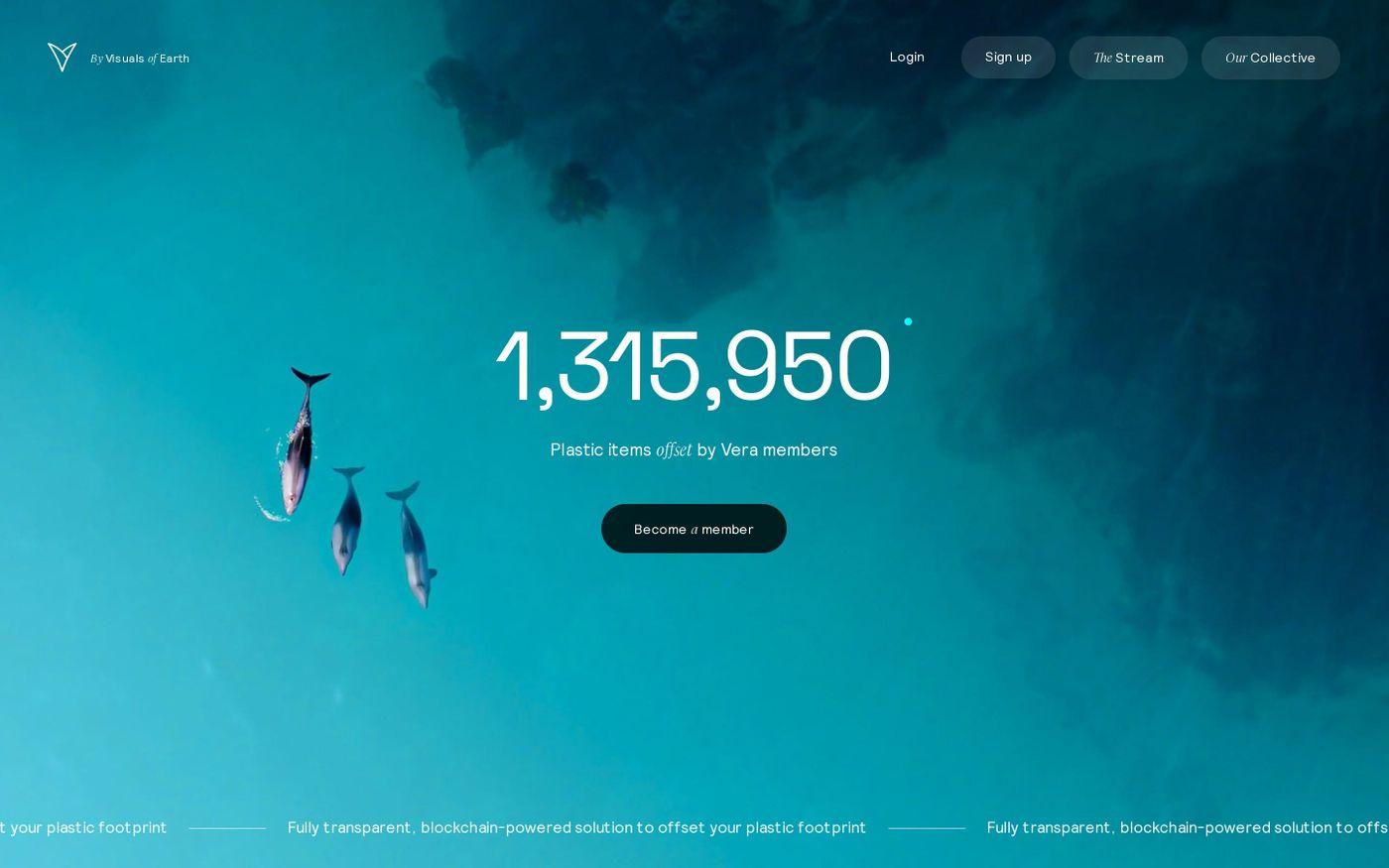 Screenshot of Vera website
