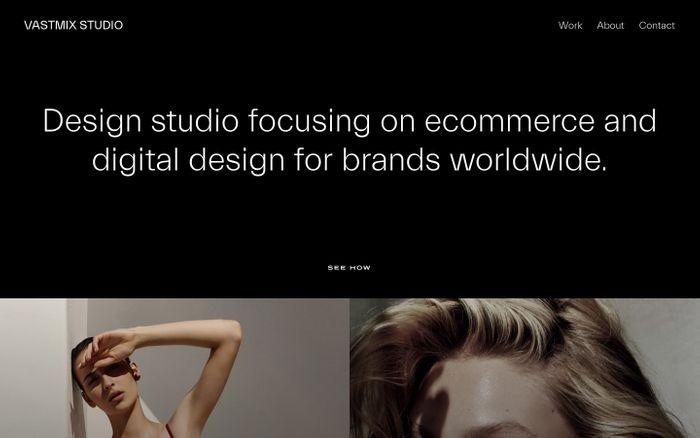 Screenshot of Vastmix website