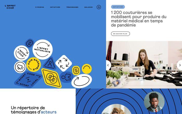 Screenshot of Effet Coop website