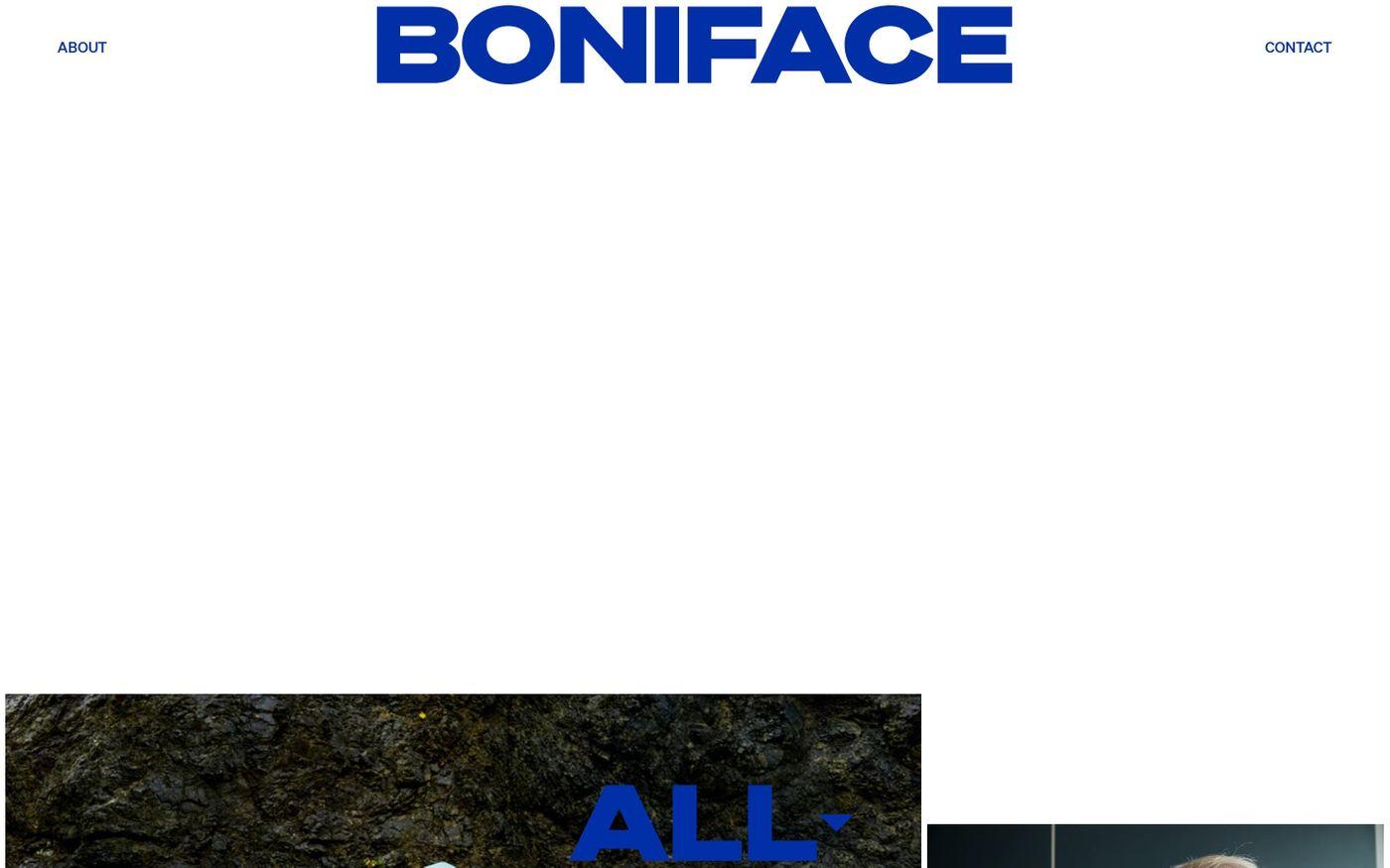 Screenshot of Steven Boniface website