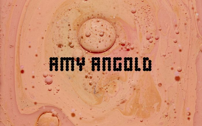 Screenshot of Amy Angold website