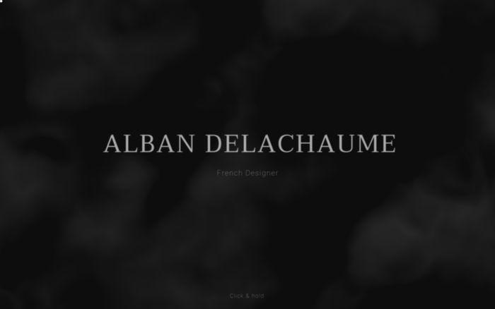 Screenshot of Alban Delachaume - Creative Designer