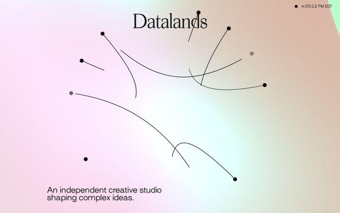 Screenshot of Datalands website