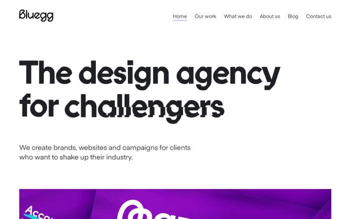 Screenshot of Branding and Web Design Agency | Bluegg