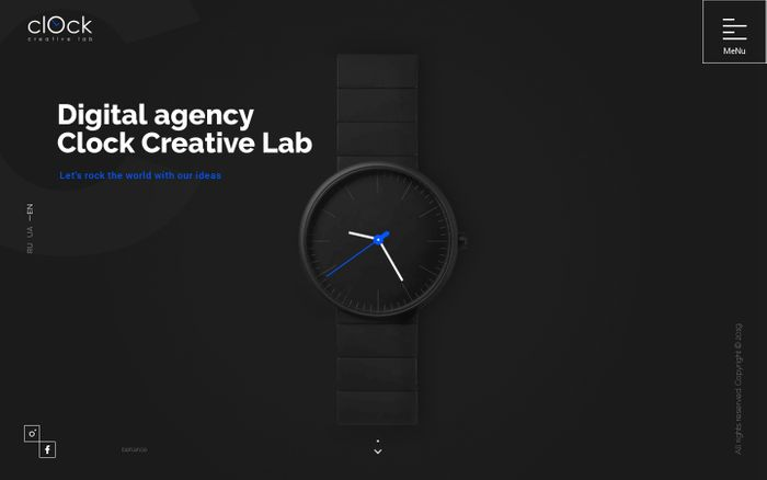 Screenshot of Digital agency — Clock Creative Lab
