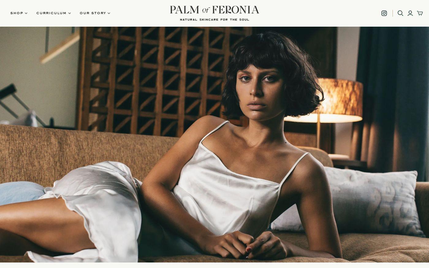 Screenshot of Palm of ferionia website