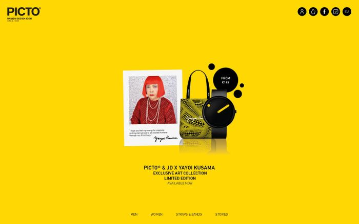 Screenshot of PICTO® Official Brand Site – Unique Danish designer watches online