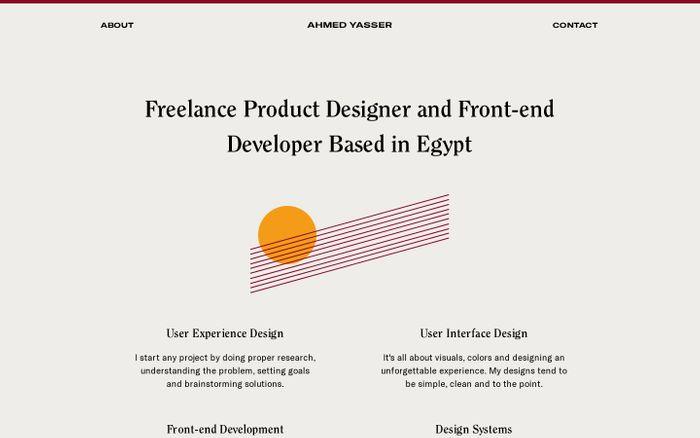 Screenshot of Ahmed Yasser — Product Designer, Developer