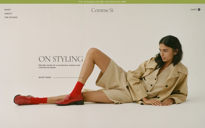 Screenshot of Comme Si website